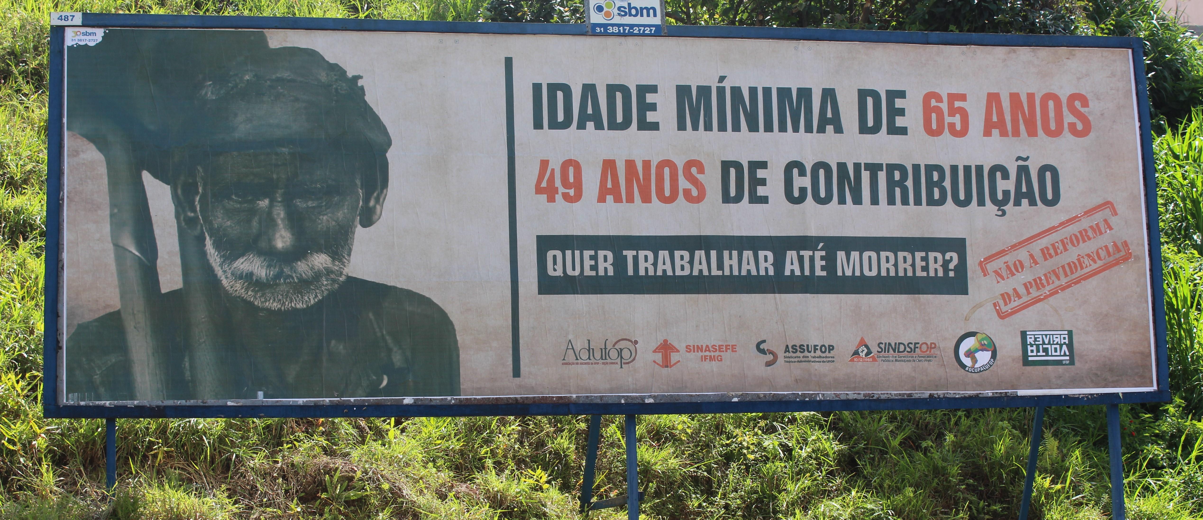 Entidades lançam campanha visual contra Reforma da Previdência